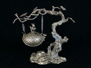 Japanese-Antique-Hanging-KORO-Incense-Burner-Nezumi-Tree-design-b463