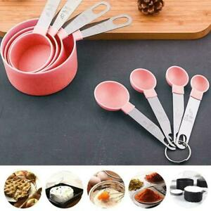 4pcs Stainless Steel Measuring Cups Spoons Kitchen Baking Cooking Tool Set
