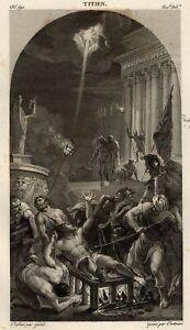 Titien-Vecelli-Le-martyre-de-saint-Laurent-gravure-originale-XIXe