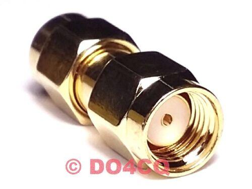 Adaptateur sma connecteur reverse sur sma connecteur rev (teflon & plaqué or) Funk & wlan