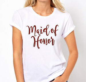 HENS-NIGHT-BRIDAL-SHOWER-IRON-ON-TRANSFER-GLITTER-ROSE-GOLD-MAID-OF-HONOR