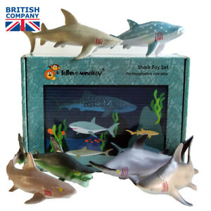 Shark Toy Animal Figures 6 Boxed Buy Direct From The Importer Uk Ebay Ebay