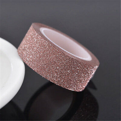 5m Craft Glitter Washi Tape Scrapbooking Decoration DIY Adhesive Paper Sticker