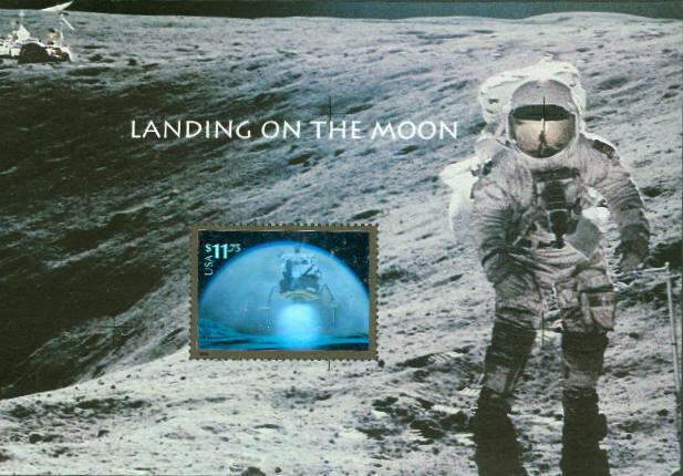 2000 $11.75 Landing on the Moon Souvenir Sheet, Express