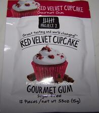 3 Packs Project 7 RED VELVET CUPCAKE Gourmet Gum NEW SEASONAL FLAVOR  free ship