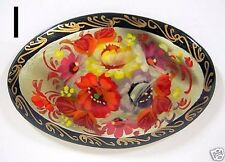 3 Russian Floral Lacquer Ware Brooch Pins CHOOSE 3 of 9