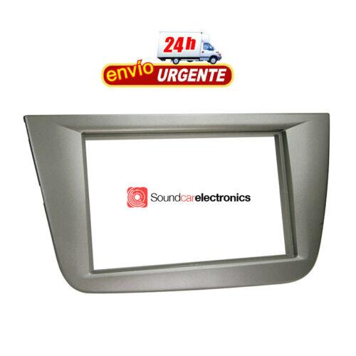 Adaptador-Marco-Montaje-Radio-Coche-2DIN-Seat-Altea-Toledo-2004-gt-Color-Antracita