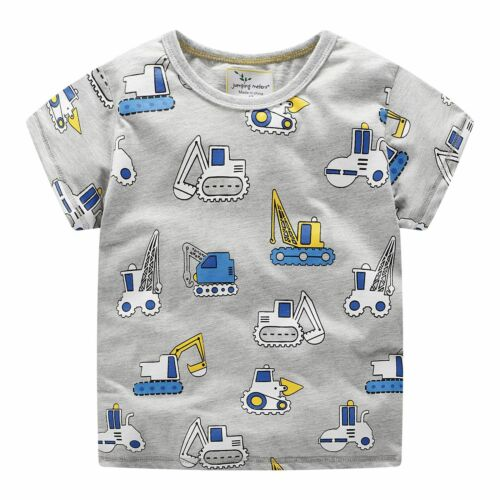 UK Stocks Summer Kids Baby Boys Girls Clothes T-shirt Child Toddler Boy Tops