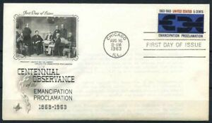 Stati-Uniti-1963-Mi-846-Primo-Giorno-100-proclama-di-emancipazione