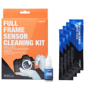 Vsgo-Full-Frame-DSLR-Pulizia-Sensore-Kit-12x-Pulizia-Tamponi-1x-15ml-Pulizia-Sol