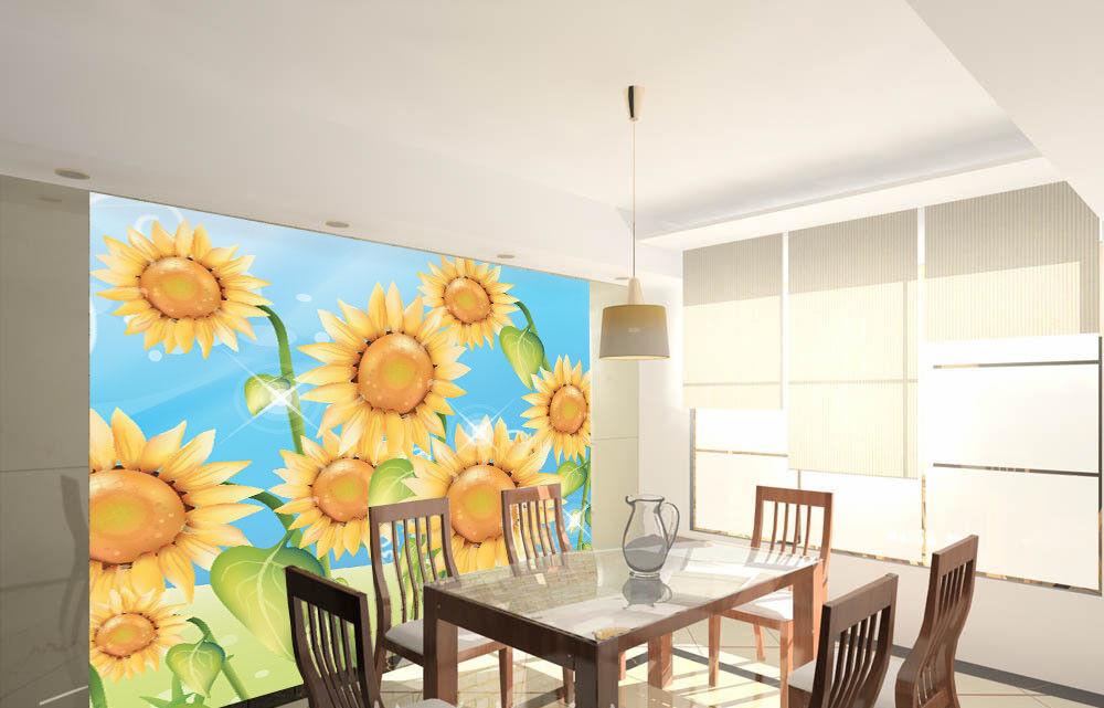 3D Lovely Sunflowers 7 Wall Paper Murals Wall Print Wall Wallpaper Mural AU Kyra