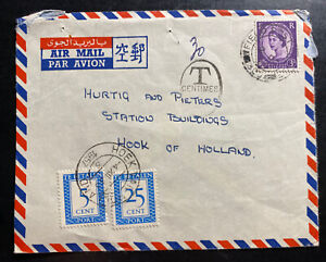 1957-British-Field-Post-Office-Hong-Kong-Airmail-Cover-To-Holland-Postage-Due