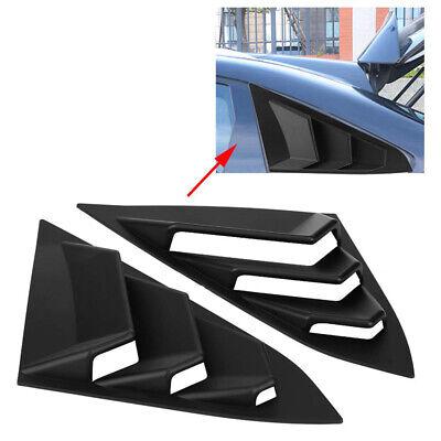 Quarter Window Louver Cover For Honda Civic 2016-2018 ABS Rear Side Vent Black