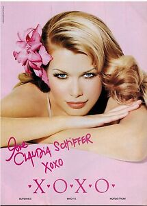 1998-CLAUDIA-SCHIFFER-for-XOXO-Fashion-Magazine-Print-AD