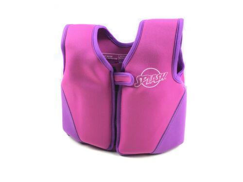 Splash Childrens Kids Swimming Vest Buoyant Aid Life Jacket 2 - 3 Yrs Pink