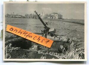 Foto : setsames MG mit Mündungs-Aufsatz in Frontstellung in Rußland im 2.WK