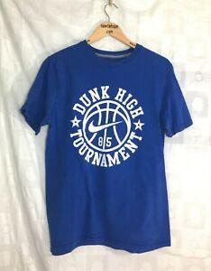 Nike-Men-039-s-T-Shirt-Medium-Dunk-High-Tournament-85-Blue