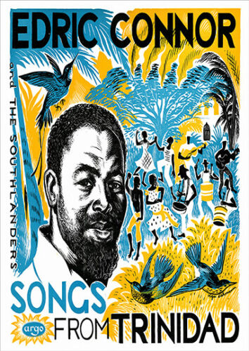Edric Connor songs from Trinidad Old Music poster reproduction.