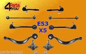 BMW-X5-E53-Frente-Brazo-De-Suspension-Kit-conjunto-de-control-de-horquilla-rotula-de-vinculos-Bush