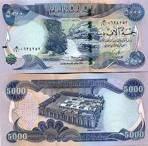 Image Is Loading 5000 New Iraqi Dinars 2017 With