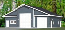 50x42 2-Car 1-RV Garage - PDF FloorPlan - 1,973 sqft - Model 1B