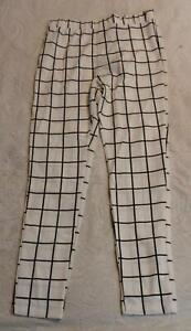 Rejilla De Subida Zaful Alta Para Mujer Imprimir Pantalones Angostos Bf5 Blanco Grande Nuevo Con Etiquetas Ebay