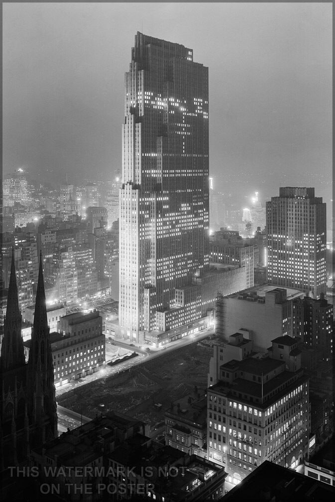 Poster, Many Größes; Rockefeller Center With (Then) Rca Building, December 1933
