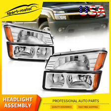 For 02 06 Chevy Avalanche Body Cladding Chrome Headlightsbumper Signal Lamp Set Fits More Than One Vehicle
