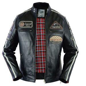 Neu Bikerjacke Herren Details Schwarz Motorrad Lederjacke Vintage Jacke Zu Motorradjacke vN8mn0OywP