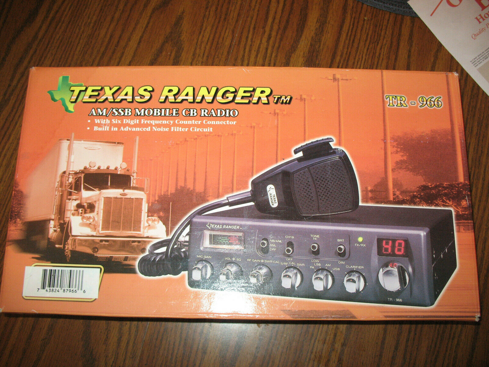 TEXAS RANGER CB RADIO MODEL TR-966 NEW WITH PAPERWORK OPEN BOX. Available Now for 249.00