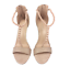 thumbnail 5 - Womens Ladies Beige Faux Suede High Heel T-Bar Party Sandals Shoes Size UK 7 New