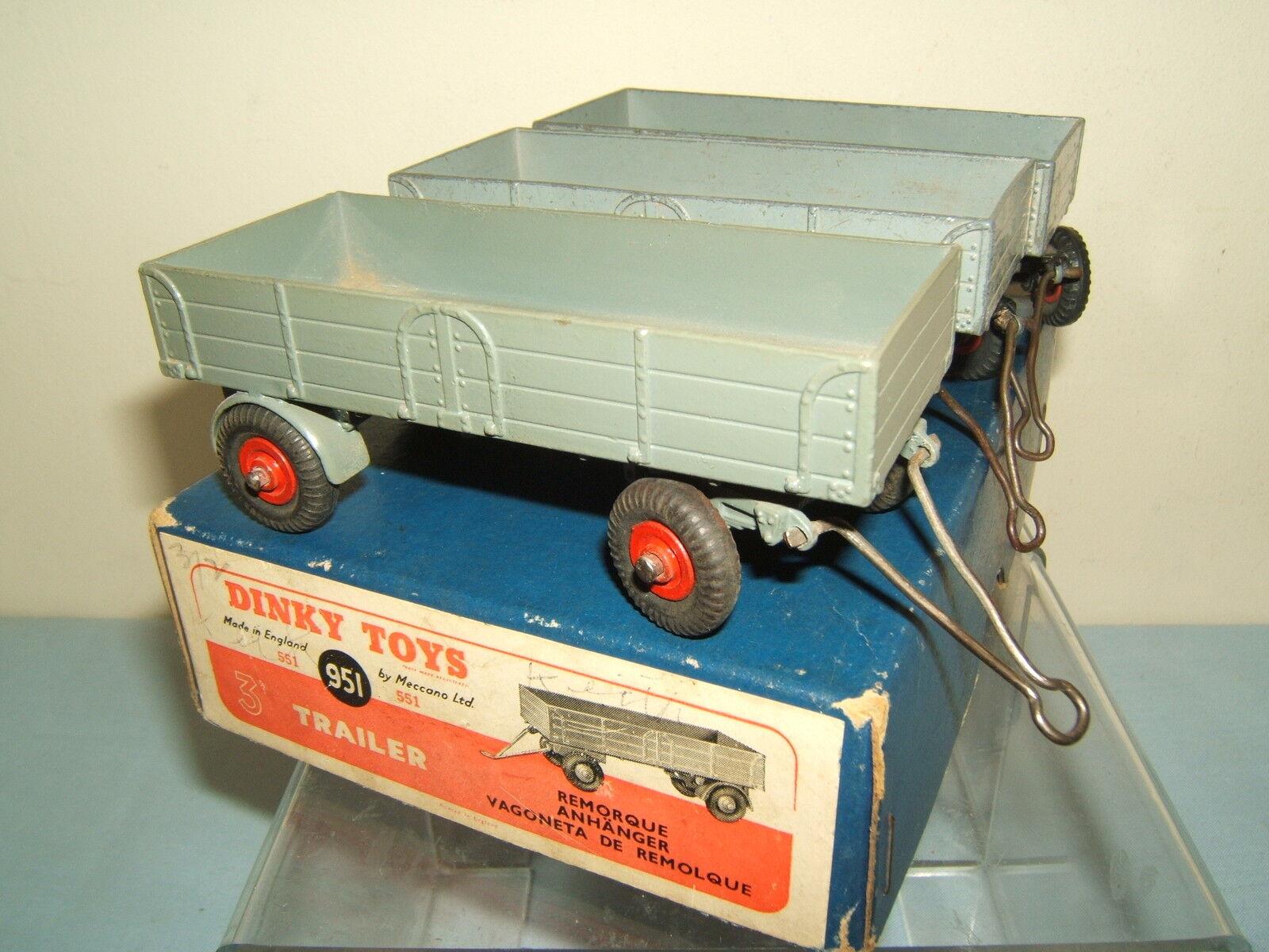 DINKY TOYS No.951 551  3 X  TRAILER  ( TRADE BOX)   VN MIB