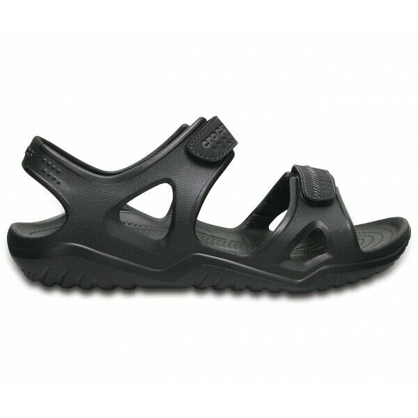 Crocs SWIFTWATER RIVER SANDAL Mens Touch Fastened Croslite Sports Sandals Black