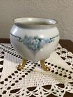 Gorgeous Porcelain Footed Rose Bowl Signed Hand Painted Dated