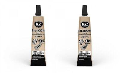 Klug 2x K2 Silikon Silikon Hochtemperatur Dichtmasse Sonstige 350° Schwarz 21g