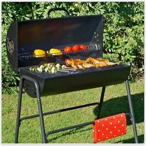 Charcoal Barbeque Smoker BBQ Grill Garden Portable Outdoor Cooking Patio Party