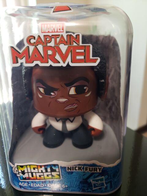 Marvel Captain Marvel Mighty Muggs Nick Fury 38 Spinning Head