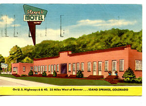 Image Is Loading Sleepy V Motel Idaho Springs Colorado Vintage Advertising