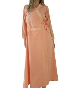 Vintage Dressing Gown Robe Orange Striped Dots Wrap Lounge Nightwear 70s Dolls Ebay