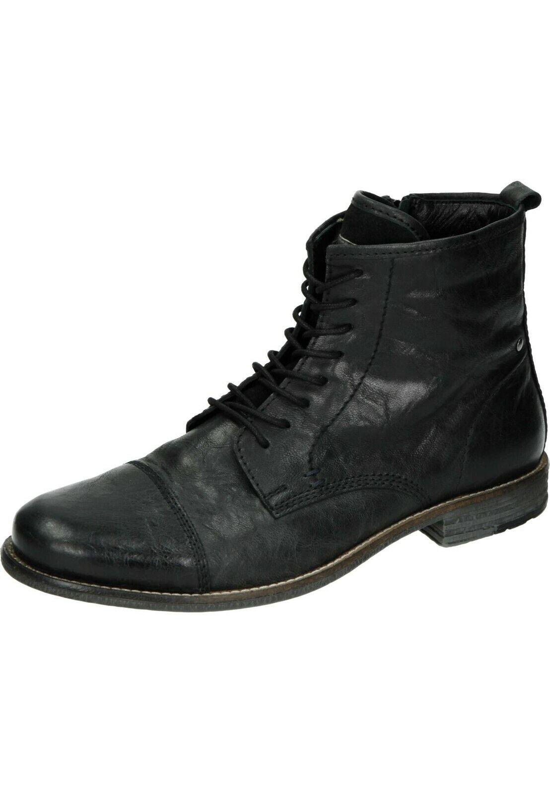 Manitu botas piel botines zapatos caballero negros neu21