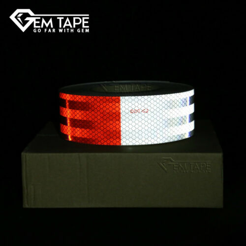DOT Trailer Reflective Tape Red//White Day-Bright Outdoor Waterproof Reflector