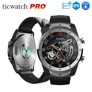 TicWatch PRO Waterproof Sports Smart Watch BT HeartRate Fitness Tracker GPS NFC