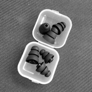 3-pairs-Black-3-8mm-Triple-Flange-Replacement-Silicone-In-Ear-Tips-Earbuds-NEW