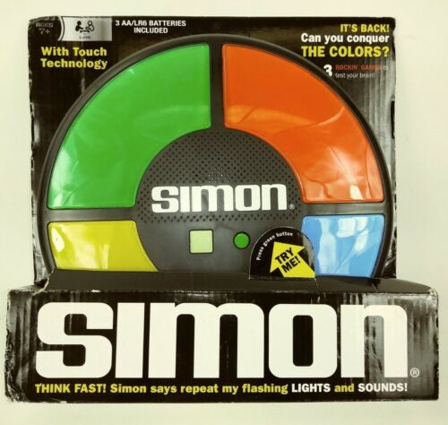 SIMON Game Touch Technology Flashing Lights and Sounds New T4