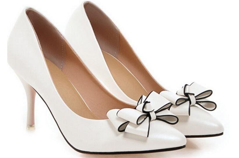 Décollte Schuhe Pumps FrauenSandale Absatz Stift 9 cm Stilett Stilett Stilett weiß 9175 027577