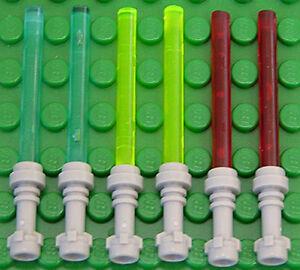 6 x Laserschwert Lichtschwert in 3 Farben LEGO Star Wars 64567 30374 NEUWARE