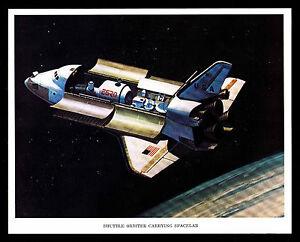 "1975 SHUTTLE ORBITER CARRYING SPACELAB - 8"" X 10"" PRINT (ESP#7997)"