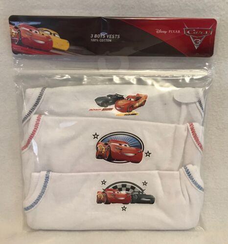 Ref#des1-18-24 Months Brand New Disney Cars 3 3pk Boys Vests