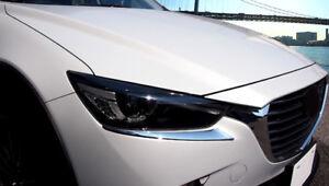 ABS-Cromo-Cabeza-Frontal-Faro-Parpado-Tapa-Embellecedora-2pcs-para-Mazda-CX-3