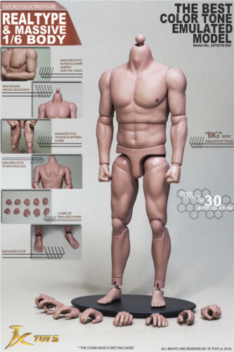 "1//6 Scale Male strong Muscular Body JXToys 02 For Ganghood 12/"" Figure ❶USA❶"